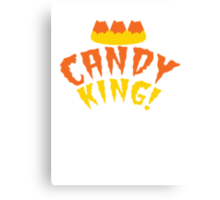 CANDY KING! Halloween crown with candy corn Canvas Print