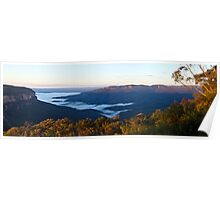 Wentworth Falls lookout Poster