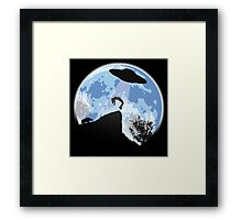 Alien Abduction! The Helpless Witness... Framed Print