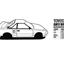 Toyota AW11 MR2 - DATA - PRINT by Lindsay Thebus