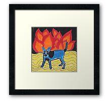 Flame Dog Framed Print