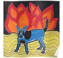 Flame Dog Poster