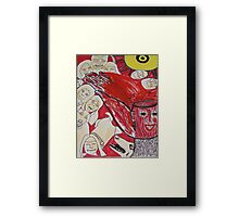 Memorrhage: Blood Burst From My Mind Framed Print