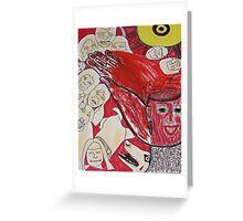 Memorrhage: Blood Burst From My Mind Greeting Card
