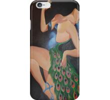 Pretending to be a Peacock Masquerade (after Bergey) iPhone Case/Skin