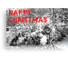 HAPPY CHRISTMAS 5 Canvas Print