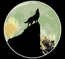 Wolf howling by KAMonkey