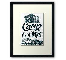 Camp Yeti Framed Print