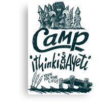 Camp Yeti Canvas Print
