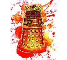 Red Dalek Photographic Print