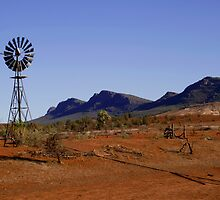 Wind Pump in the Australian Outback by jwwallace