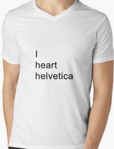 I heart helvetica Mens V-Neck T-Shirt