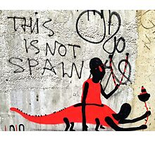 This is not Spain.... You decide Photographic Print
