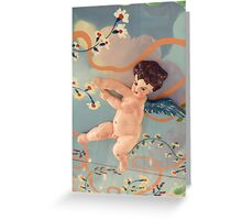 On the carousel- angel detail Greeting Card