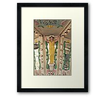 On the carousel- woman detail Framed Print