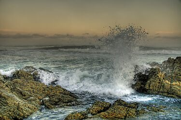 Moody Sea by Clive S