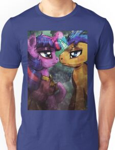 Twilight and Flash are helpless by the river Unisex T-Shirt