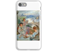 Charles William Wyllie - Tea at the Savoy Hilton, London.  iPhone Case/Skin