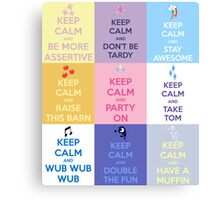 Keep Calm and Have a Pony Canvas Print