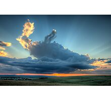 Sunset In The Berg Photographic Print