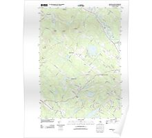 USGS TOPO Map New Hampshire NH Baxter Lake 20120608 TM Poster