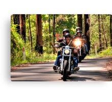 Bike Run Canvas Print