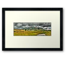 Colourful Community Panoramic Framed Print