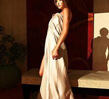 Beautiful woman in morning light by Britta Glodde