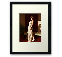Beautiful woman in morning light Framed Print