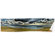 A River Thru The Berg Panoramic Poster