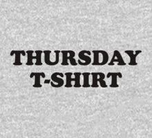 Thursday t-shirt by WAMTEES