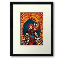 Fire Witch Framed Print