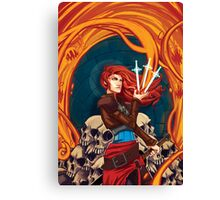 Fire Witch Canvas Print