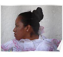 portrait of an indian lady - retrato de una señora indigena Poster
