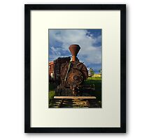 Old Prairie Train Framed Print