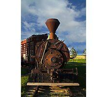 Old Prairie Train Photographic Print
