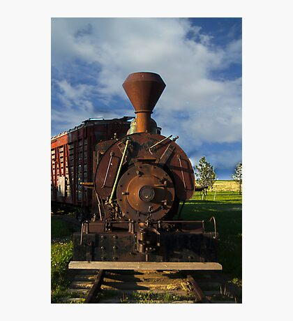 Old Prairie Train Photographic Print