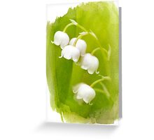 Watercolor Lily-of-the-Valley Greeting Card