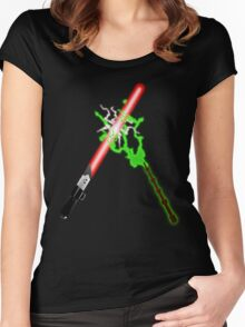 Darth Vader Vs Lord Voldermort. Women's Fitted Scoop T-Shirt