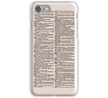 Antique Dictionary Page iPhone iPod Case iPhone Case/Skin