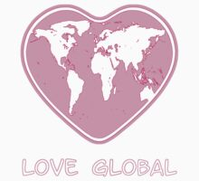 Love Global T-Shirt Emblem Pink by Martin Rosenberger