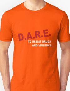 90s DARE funny nerd geek geeky T-Shirt