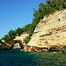 Grand Portal--Pictured Rocks Lake Shore by Melody Ricketts