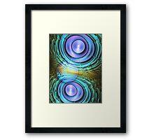 Moon dance, abstract fractal artwork Framed Print