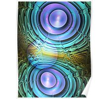 Moon dance, abstract fractal artwork Poster
