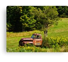 The Truck and its Tree Canvas Print