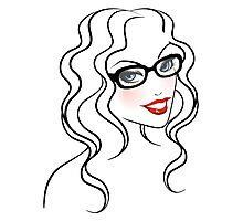 Beautiful woman in glasses Photographic Print