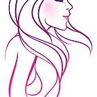 Beautiful woman doodle art by SonneOn