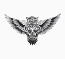 Sugarskull Owl by Julian Micallef