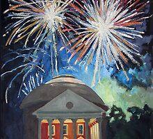 Fireworks Over The Rotunda by Robert Holewinski